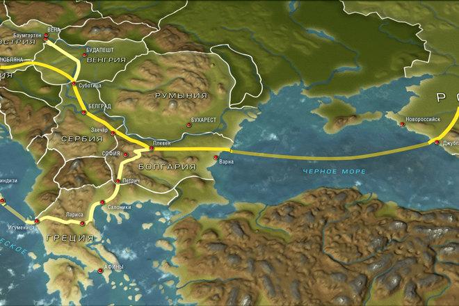 Sơ đồ dự án dòng chảy phương Nam