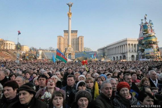 Cuộc biểu tình tại Quảng trường Maidan hôm 9/3.