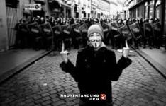 Nhóm Anonymous hoạt động vì mục đích chính trị
