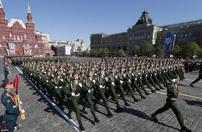 Lễ duyệt binh của quân đội Nga trên Quảng trường Đỏ ngày 9/5/2014.