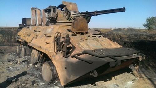 """Một thiết giáp của Ukraine bị """"nung"""" đỏ"""