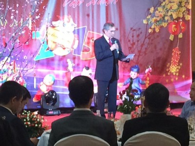 Đại sứ Nguyễn Minh Trí cùng vui Tết với cộng đồng ở Kharkov