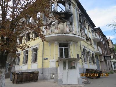 Trụ sở công an bị bắn cháy tại TP. Mariupol