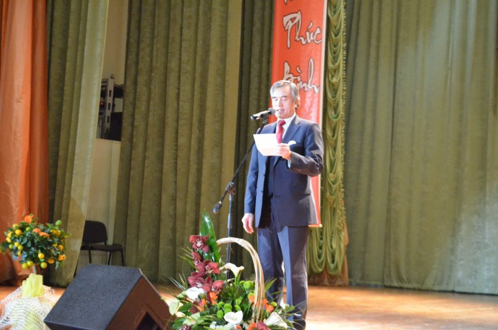 Đại sứ đặc mệnh toàn quyền Cộng Hòa Xã Hội Chủ Nghĩa Việt Nam tại Ukraina và Moldova Nguyễn Minh Trí phát biểu trong buổi lễ.