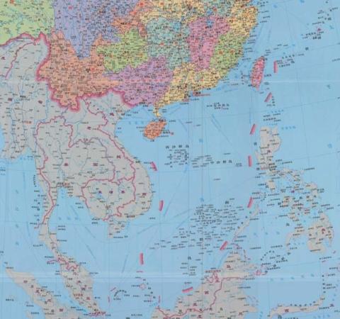 Bản đồ đường lưỡi bò bao trùm phần lớn diện tích Biển Đông của Trung Quốc (ảnh: AP)