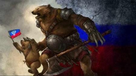 Gấu Nga và gấu Novorossia.