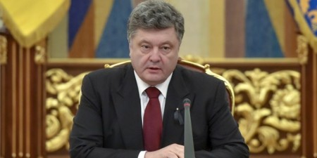 Tổng thống Ukraina Poroshenko.