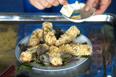 """Một món ăn """"dát vàng"""" của nhà hàng Kim Ngân Ngự Thiện đã bị đình chỉ hoạt động"""