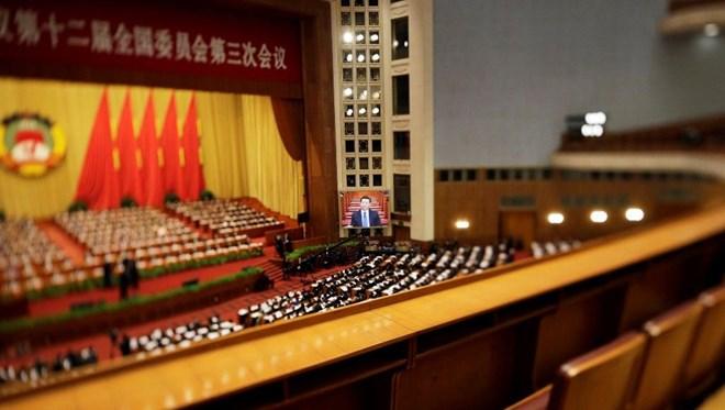 Toàn cảnh phiên khai mạc Chính hiệp Trung Quốc hôm 3/3/2015.