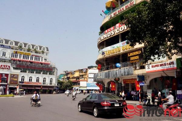 Một góc Quảng trường Đông Kinh Nghĩa Thục.