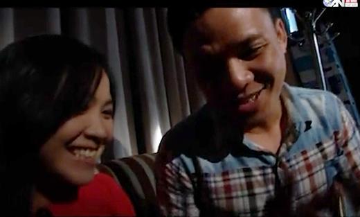 2 vợ chồng  trẻ trong những ngày hạnh phúc.