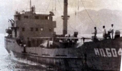 Tàu HQ 604 khi nhận lệnh ra Gạc Ma (Ảnh tư liệu)