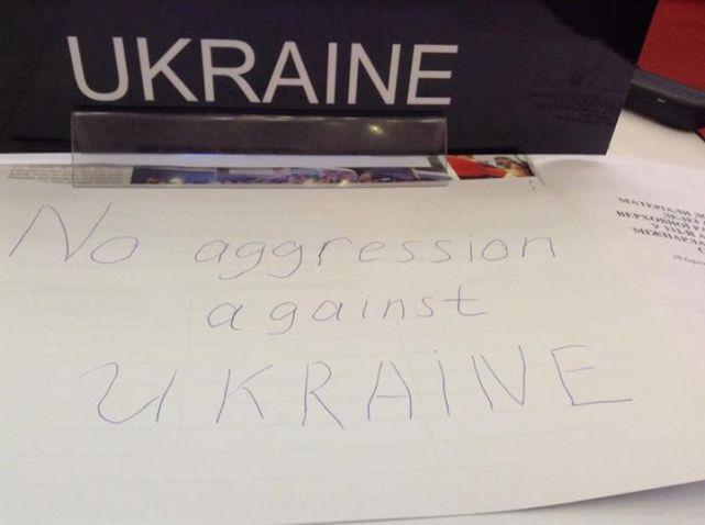 """Mảnh giấy mà bà  Alexander Kuzhel đã tốc ký khi nghe những lời """"rao giảng"""" của ông Kosarev."""