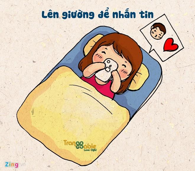 Thời gian để đi ngủ, nghỉ ngơi cũng được tận dụng cho việc nói chuyện, nhắn tin với bạn bè. Thậm chí, có cô gái thông báo đi ngủ lúc 23h nhưng vẫn buôn chuyện đến 1-2h sáng.