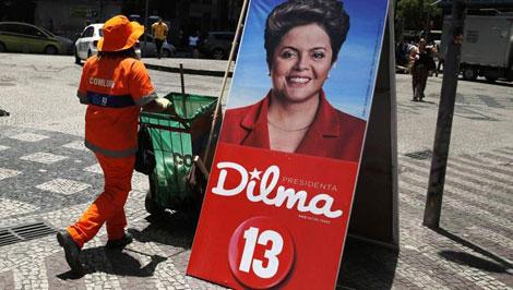 Chân dung Dilma Rousseff trong cuộc bầu cử tổng thống Brazil năm 2014.