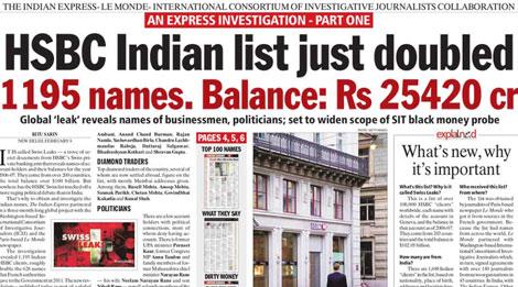 Một bài báo cho thấy số người giàu ở Ấn Độ có tài khoản bí mật ở Thụy Sĩ cao rất nhiều so với dự đoán ban đầu.