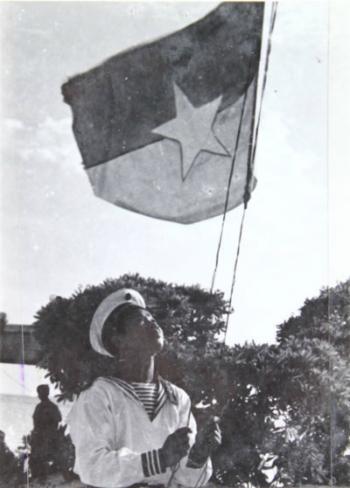 Đảo Sơn Ca được giải phóng ngày 25/4/1975. Ảnh tư liệu.