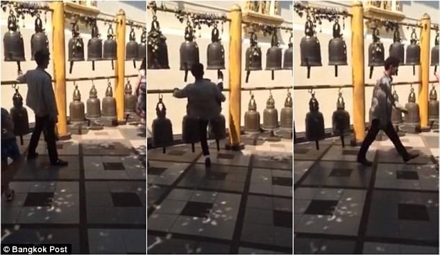 Hình ảnh đá chuông được cắt ra từ video.