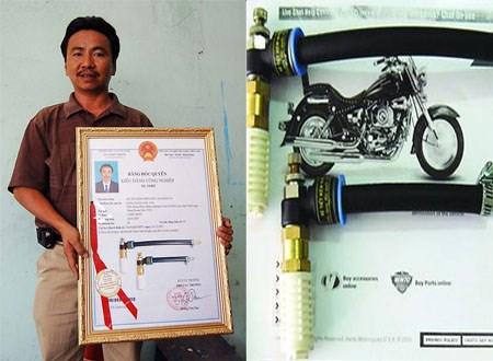 Đặng Hoàng Sơn cùng bộ tiết kiệm xăng xe máy