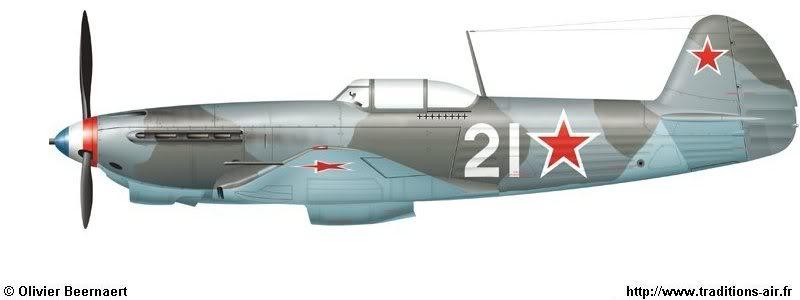 Máy bay tiêm kích Yak-3 của phi công Ace Risso,  anh đã hạ 8 máy bay địch trên chiếc tiêm kích này