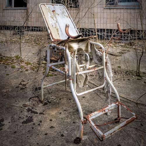 Bệnh viện ở Chernobyl.