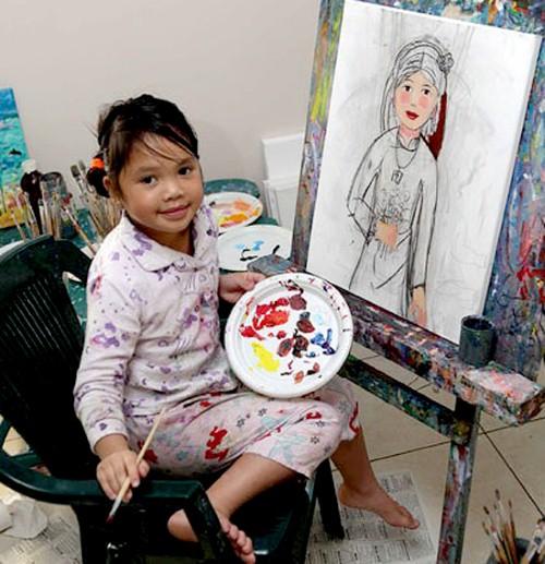 Jacquelyn  Ngô - thần đồng hội họa nhí gốc Việt trên đất Úc