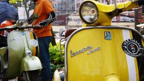Độc đáo nét du lịch Sài Gòn bằng Vespa ở TP. Hồ Chí Minh