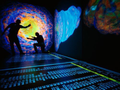 Scientists at Los Alamos National Laboratory study nuclear explosions by using 3-D simulations