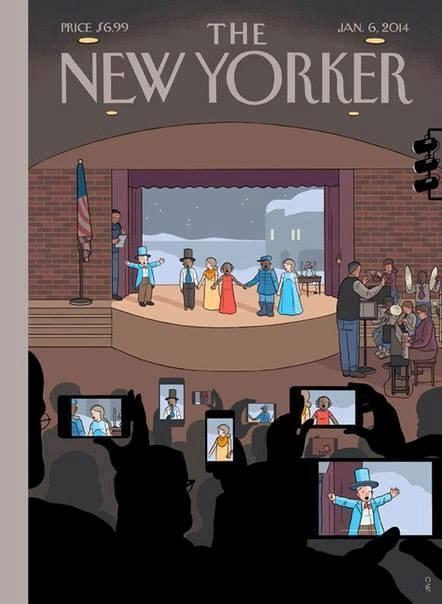 Một bức châm biếm khác trên bìa của tạp chí Người New York.