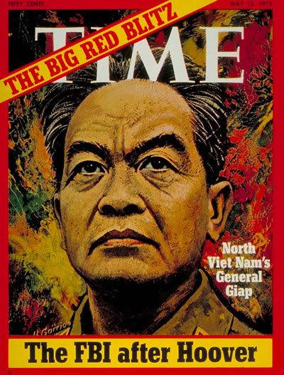 Chân dung Đại tướng Võ Nguyên Giáp trên trang bìa tạp chí Time ngày 15/5/1972.