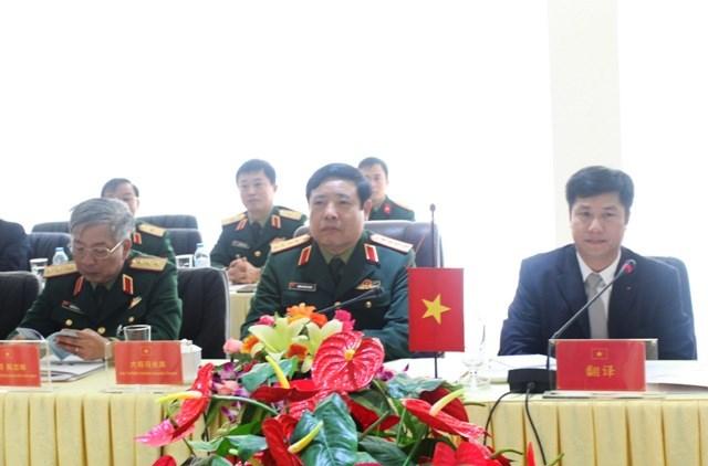 Sau lễ đón đại biểu quân đội 2 nước đã tiến hành hội đàm