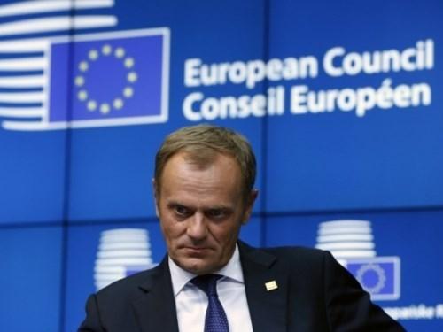 Chủ tịch Hội đồng châu Âu, ông Donald Tusk bày tỏ lo ngại về những hoạt động xây dựng trái phép của Trung Quốc ở biển Đông - Ảnh: Reuters