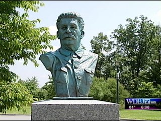 Bức tượng bán thân của Stalin ở Mỹ.