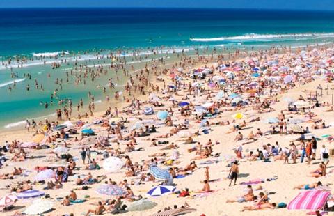 Bãi biển Biscarrosse ở Pháp