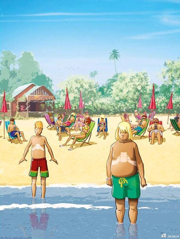 Tắm nắng thời smartphone.