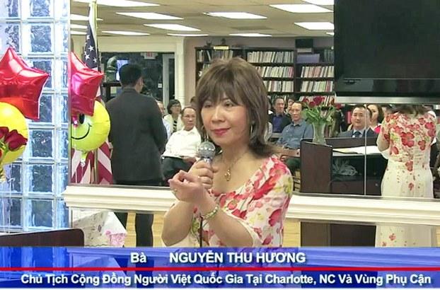 Bà Nguyễn Thu Hương chủ tịch cộng đồng người Việt tại Charlotte, NC