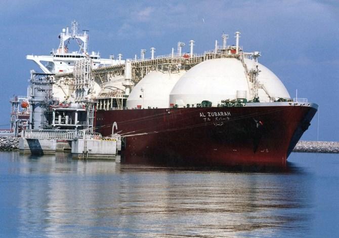 Một tàu chở khí tự nhiên hóa lỏng (LNG) tại Cảng Raslaffans Sea, Bắc Qatar. Ảnh: AP Photo.