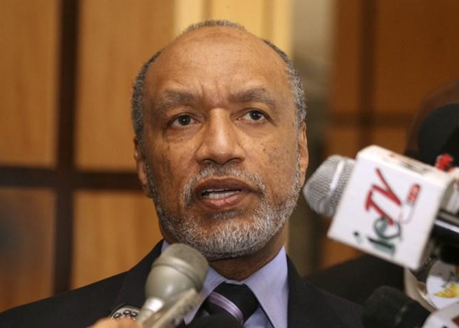 Cựu Phó chủ tịch FIFA Mohamed Bin Hammam, được cho là đã chi hàng triệu USD tiền hối lộ và quà tặng để bảo Qatar trúng thầu đăng cai World Cup 2022. Ảnh: Shirley Bahadur /AP Photo.