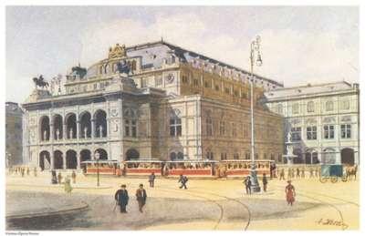 Bức tranh vẽ nhà hát Opera ở Vienna của Hitler.