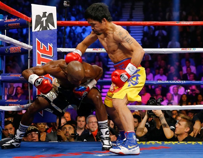 Người hâm mộ thích tinh thần chiến đấu của Manny Pacquiao. Ảnh: Mirror.