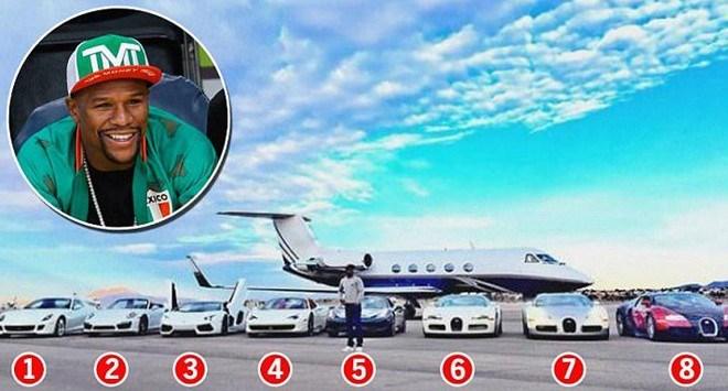 Bản thân võ sĩ giành chiến thắng trong trận thượng đài đắt giá nhất lịch sử, Floyd Mayweather cũng sở hữu một phi cơ riêng bên cạnh dàn siêu xe đắt tiền.
