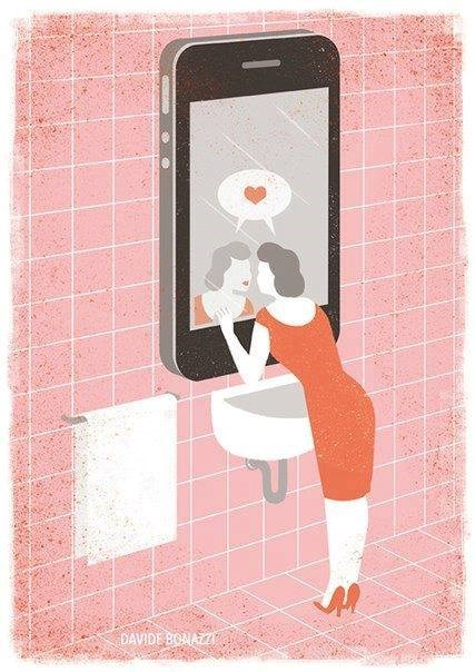 Chiếc điện thoại thông minh giờ giống như một tấm gương soi mình của những phụ nữ thấy mình xinh đẹp.