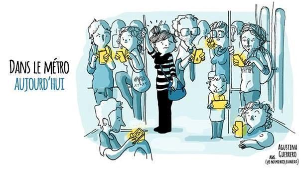 Khắp nơi, ai ai cũng dán mắt vào chiếc smartphone.