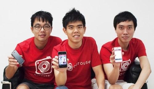 Siu Rui Quek (giữa) là đồng sáng lập Carousell