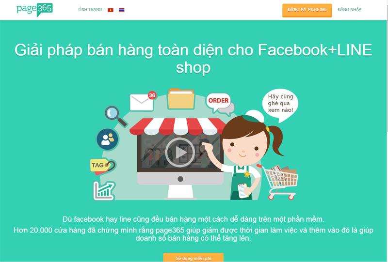 Giao diện trang Page 365 có cả tiếng Việt