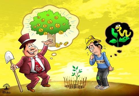 Người giàu có nhiều nguồn thu nhập, người nghèo chỉ có một.