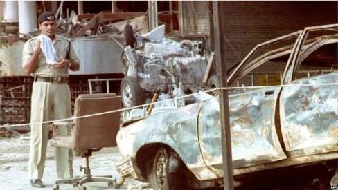 Hiện trường vụ đánh bom Mumbai 1993