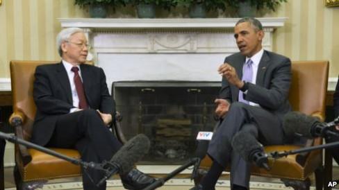 Tổng bí thư Nguyễn Phú Trọng và Tổng thống Obama