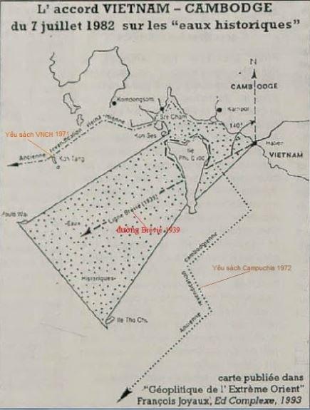 Sơ đồ Vùng nước lịch sử 1982 giữa Việt Nam và Campuchia, ảnh do tác giả cung cấp. Nguồn: Giaoduc.net.vn.