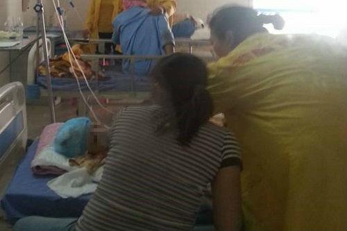 Nạn nhân Ng. đang được điều trị tại bệnh viện.